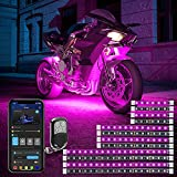 Govee 12 Pcs Motorcycle LED Light Kits, App Control Multicolor Waterproof Motorcycle LED Strip Lights with RF Remote, Music Sync & Multiple Scene Modes RGB LED Lights for Motorcycles, DC 12V