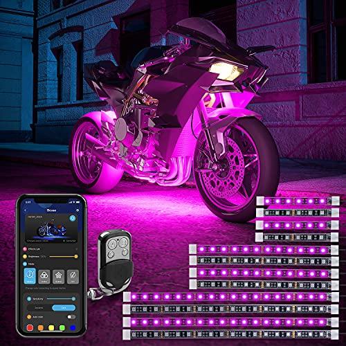 Govee 12 Pcs Motorcycle LED Light Kits, App Control Multicolor Waterproof Motorcycle LED Strip...