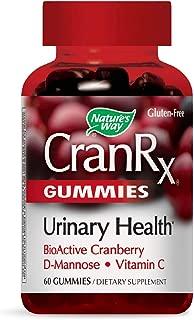 Nature's Way CranRx Gummy Urinary Health BioActive Cranberry + D-Manonse + Vitamin C, 60 Gummies