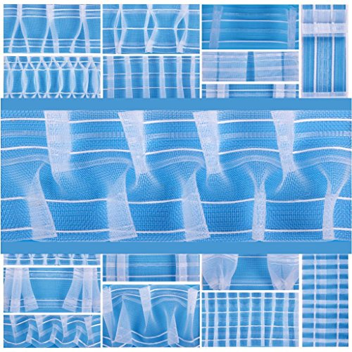 Bestlivings Gardinenband in verschiedenen Ausführungen, Meterware, Auswahl: Smokband - 100 mm 1:2 a