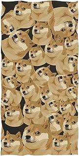 Anyangquji Funny Dog Face Meme Shiba Inu Hand Towel 30 x 15 in