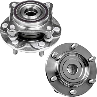 Front Wheel Hub and Bearing Assembly Left or Right Compatible Lexus GX460 GX470 Toyota Tacoma 4Runner FJ Cruisers AUQDD 515040 x2 (Pair) [ 6 Lug W/ABS 4WD AWD 4x4 ]