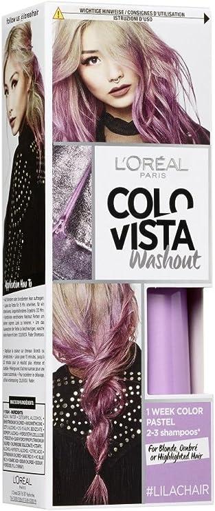 LOréal Paris Colovista 2-Week Washout #LILACHAIR - Tinte para el pelo, lavable después de 2-3 lavados, color morado