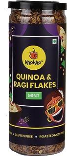 Khokha Quinoa and Ragi Flakes Mint Flavored Healthy Namkeen and Snacks Roasted Snacks and Namkeen, 120gm