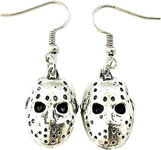Horror Movie Mask Earrings - Voorhees Jason Halloween Jewelry Merchandise Gifts for Women