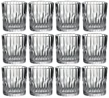 Duralex Set de 4 Vasos, Cristal, Forma Redonda, Estilo Moderno, 220ml, Aptos para lavavajillas y microondas, Fabricados en Francia, Vidrio, Twelve Pack Manhattan