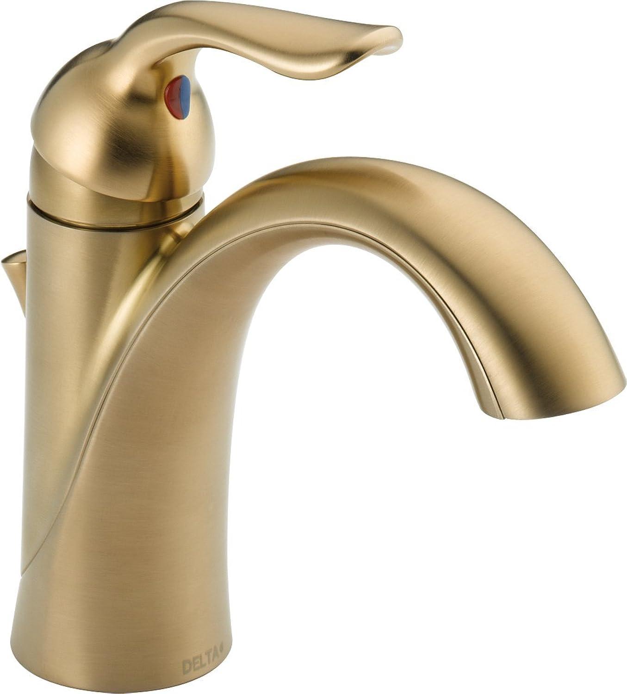 Delta 538-CZMPU-DST Lahara Single Handle Centerset Bathroom Faucet, Champagne Bronze