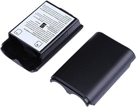 Trenro 2 Pcs Black Battery Pack Cover Shell Case Kit for Xbox 360 Wireless Controller (Black)