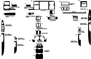 Rdash Dash Kit Decal Trim for Ford F-250 / F-350 2003-2004 (King Ranch) - Carbon Fiber 4D (Black)