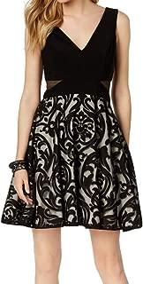 Xscape Women's Petite Illusion Waist A-Line Dress