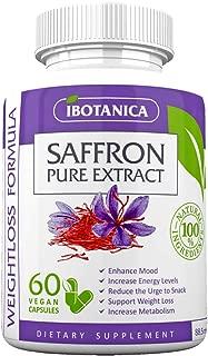 Saffron Supplement-Metabolism Boosting Pure Saffron Extract-Vegan Appetite Suppression Pills-Weight Loss Hunger Control Non-GMO Saffron Capsules for Men and Women Maximum Strength