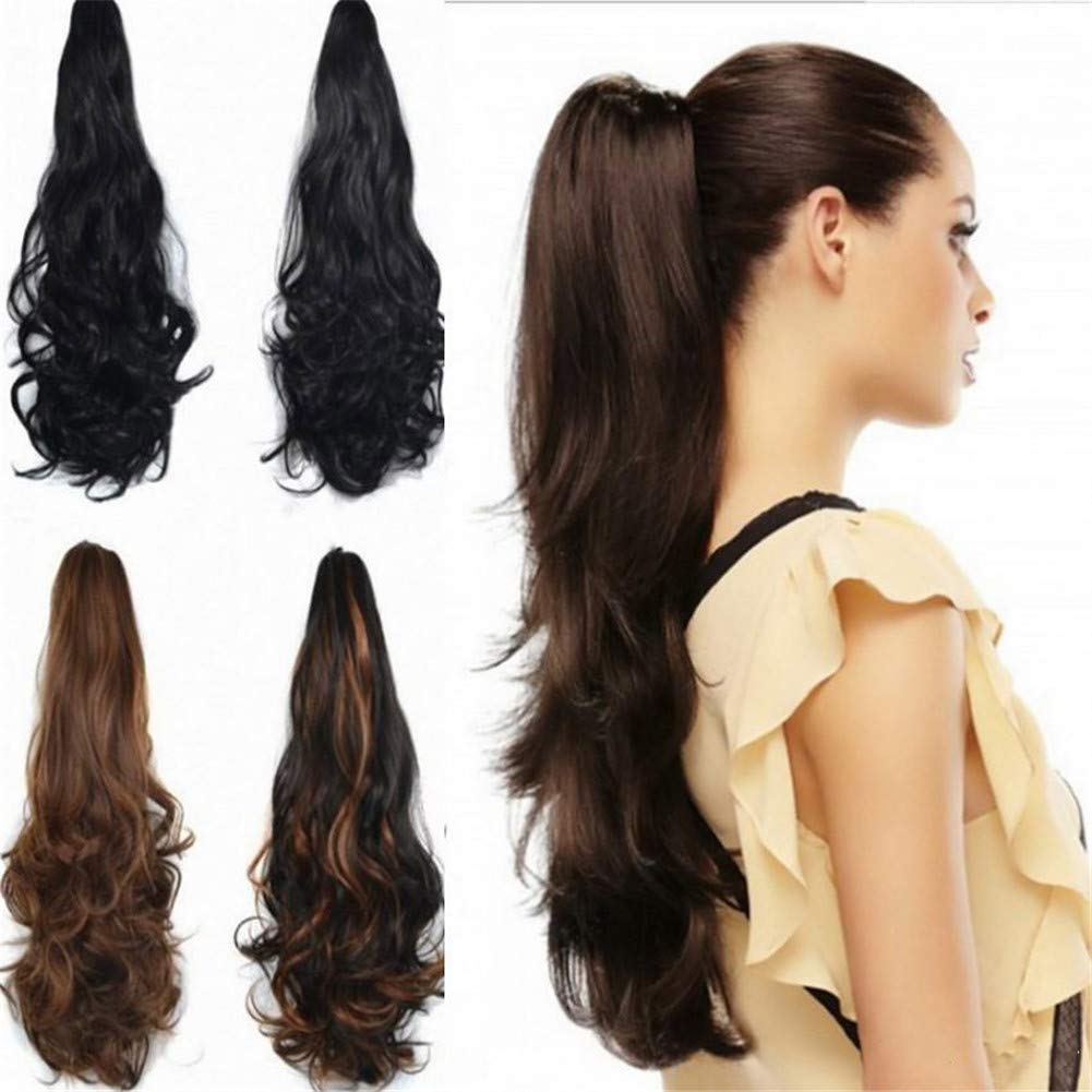 RemeHi Wavy Curly 至高 Remy Hair OUTLET SALE Ponytail Clip Extension in Claw