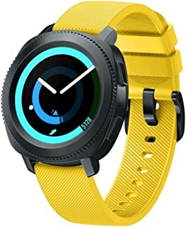 BarRan Twill Watchband compatible with Galaxy Watch 42mm, 20mm Soft Silicone quick released Sport Watch Strap Replacement ...