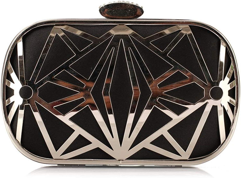 FUBULECY Gold Gold Gold schwarz Handtasche Abend Clutch Handtasche Party Tasche Diamanten Umhängetasche (Farbe   schwarz) B07GPB28CM  Vielfalt d242ea