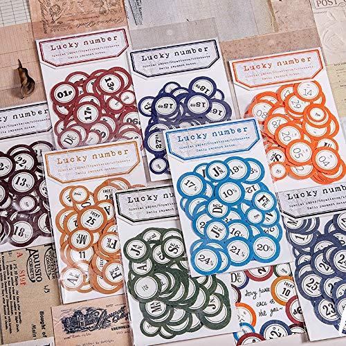 100 Stück/Los Glückszahl Aufkleber für 2020 Tagebuch Planer Motten Tagebuch Aufkleber DIY Aufkleber Scrapbooking Album Briefpapier Aufkleber