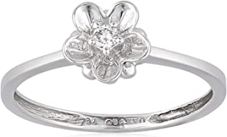 Pure Gold Jewellers Women Diamond FPC Ring 18-2.10 gm