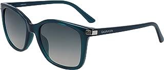 CALVIN KLEIN Women's Sunglasses Square, Ck American Essentials - Crystal Jade