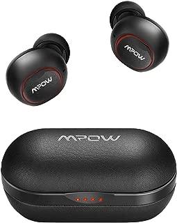 【T5進化版】Mpow M5 Bluetooth ワイヤレス イヤホン AAC&APT-X 高音質 レザー調 6時間再生 IPX7防水規格