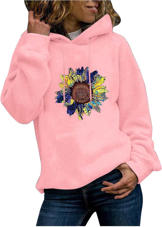 UOCUFY Hoodies for Women, Women Girls Casual Cute Printed Long Sleeve Sweatshirts Loose Pullover Tops Sweaters