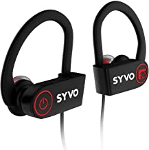 Syvo Flame Wireless Bluetooth Earphones with Microphone IPX7 Waterproof Sports Design with Carry Case, HD Sound, Super Bas...