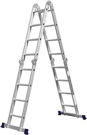 Escada Multifuncional 4x4 16 Degraus com Plataforma em Aço - MOR 5134