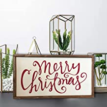 Vrolijk kerstbord - boerderijstijl - kerstdecoratie - vakantie decor hout opknoping teken boerderij veranda decoraties voo...