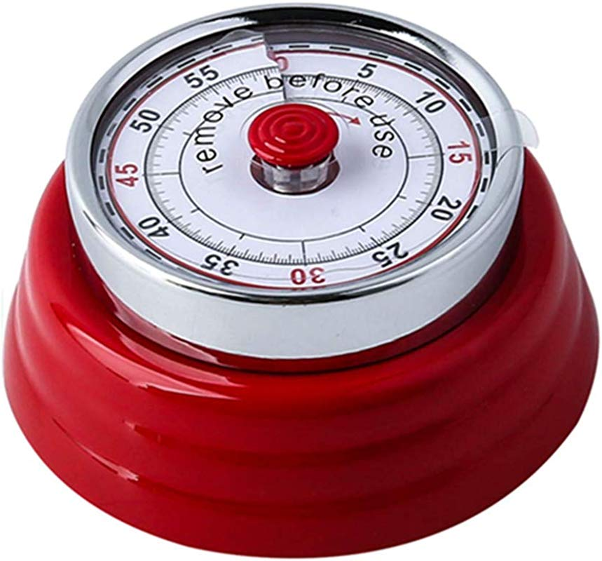 Time Timer Visual Analog Silent Timer Management Tool Minute Optional No Loud Ticking Tool For Classroom Or Meeting Countdown Clock Kids And Adults Red
