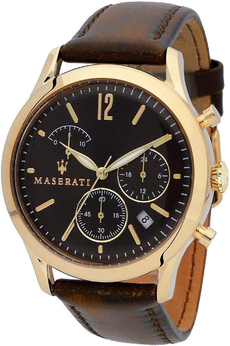 Reloj para Hombre, Colección Tradizione, en Acero, Cuero - R8871625001