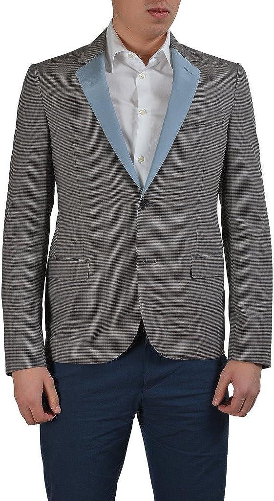 LANVIN Wool Multi-Color Checkered Two Button Men's Blazer