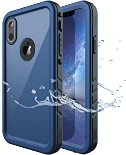 iPhone XR Waterproof Case, Waterproof iPhone XR Shockproof Full-Body Rugged Cover Case with Built-in Screen Protector for Apple iPhone XR 6.1 Inch 2018 Release -(Blue)