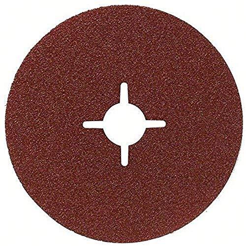 Bosch DIY Fiberschleifscheibe (für Winkelschleifer verschiedene Materialien, 5 Stück, Ø 125 mm, Körnung 24)
