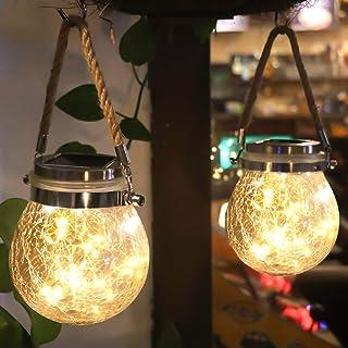 Luces de Jardin Solares LáMparas Solares Exterior Luces Led Solares Para Exteriores 20 Luces Led de Hadas Ip65 a Prueba de Agua DecoracióN LáMpara para Navidad JardíN de Patio y CéSped (Color CáLido)