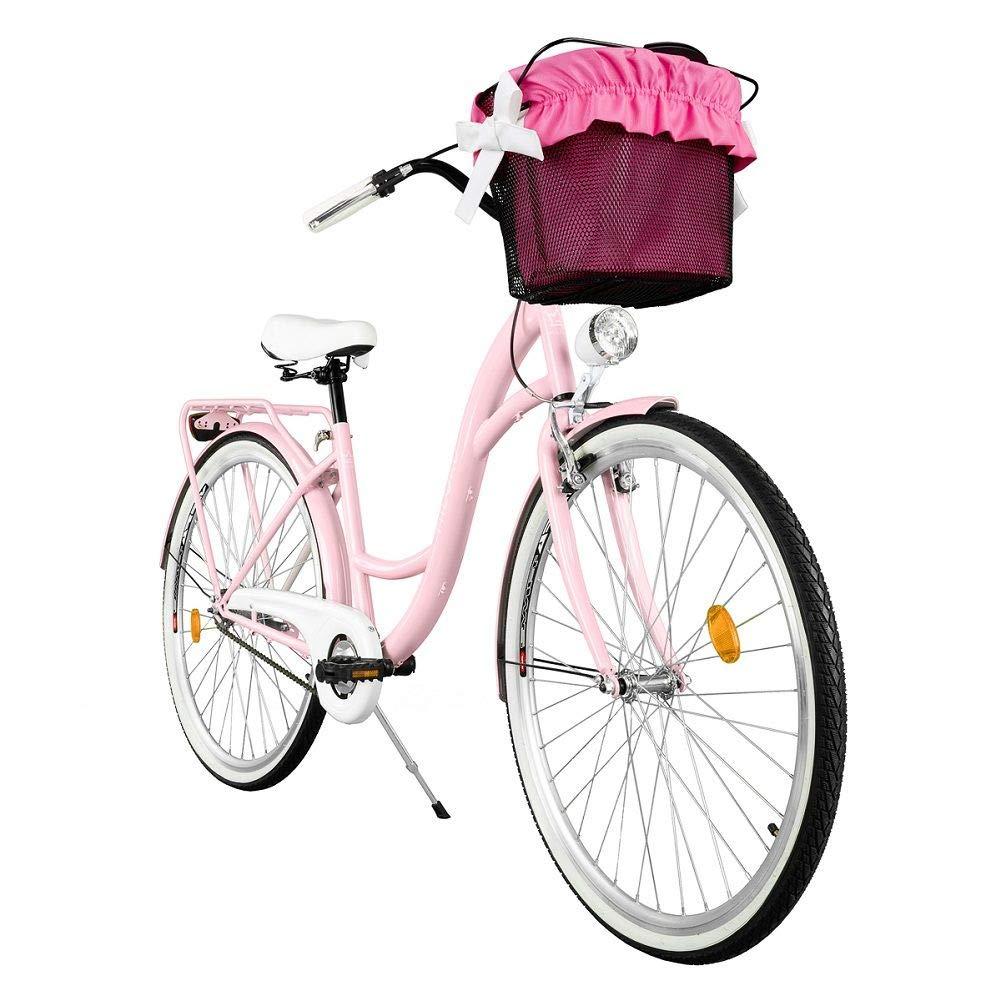 Milord Bikes Volkine. Cómoda Bicicleta de Ciudad con una Canasta ...