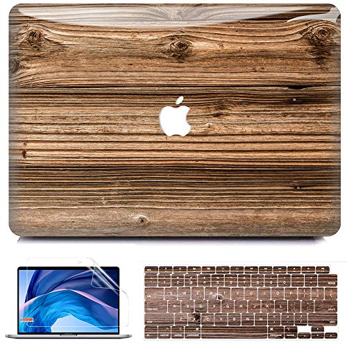 MacBook Air 13 Zoll Hulle 2020 2019 2018 Release A2179 A1932 B BELK 3D Smooth Scratch Resistant Snap on PC Hard Case with Keyboard Cover for Mac Air 133 Touch ID Retina Display Walnuss