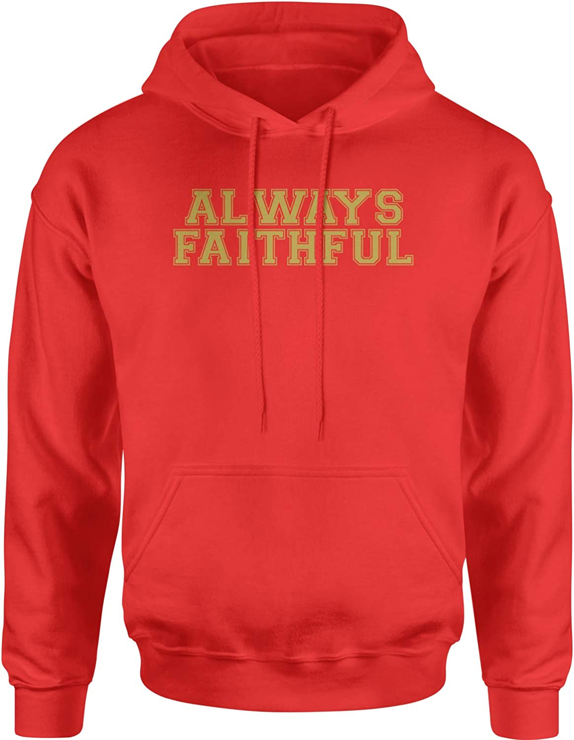 Hoodie Always Faithful X-Large Red Adult Challenge the lowest price Ranking TOP18