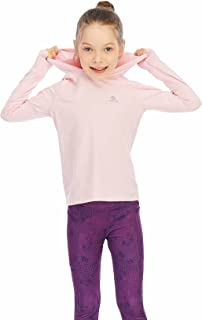 HMILES Girl's Long Sleeve Running Tops with Thumb Holes Kids UPF Workout Tshirts Lightweight Sports Hoodies Quickdrying Ac...