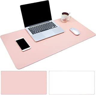 AngKng Large Desk Pad, Non-Slip PU Leather Desk Mouse Pad Waterproof Desk Pad Protector, Dual-Side Use Desk Writing Mat fo...