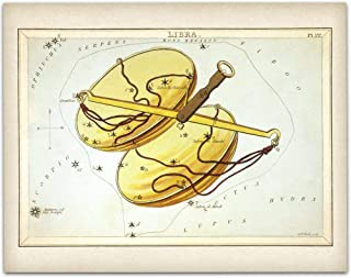 Antique Zodiac Libra Constellation Plate - 11x14 Unframed Art Print - Great Home Decor or Gift Under $15 to Astrology Enthusiasts