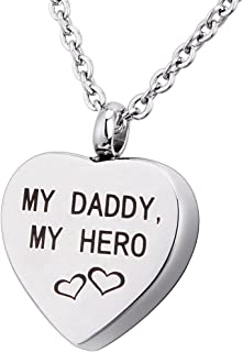daddy's girl urn necklace