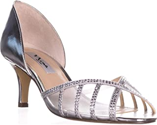 Womens Corita Mesh Inset Embellished Peep-Toe Heels