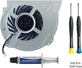 ElecGear Ventilador de Refrigeración para PS4 Pro CUH-7xxx – Interno CPU Cooling Fan, Reemplazo de Enfriamiento, Pasta Térmica, Torx TR8 y PH0 Herramienta de reparación Playstation 4 Pro
