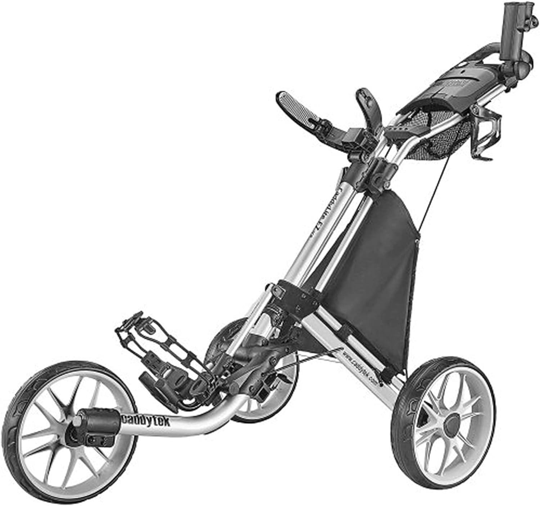 Owl's-Yard 3 Wheel Golf Push Cart with Cooler Basket  Foot Brak