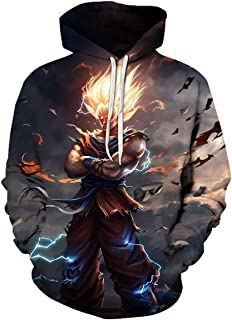 CHENMA Unisex Kids Dragon Ball 3D Print Pullover Hoodie Sweatshirt with Front Pocket