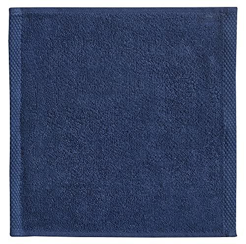 Waschtuch Waschlappen Seiftuch Frottee-Seiftuch Frottier-Waschlappen Marine-blau 30x30cm