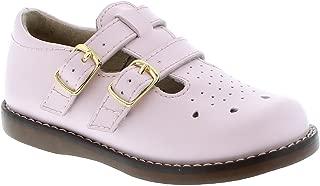 FOOTMATES Girl's Danielle Double-Buckle Perf English Sandal (Infant/Toddler/Little Kid) Rose