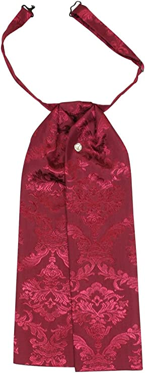 Victorian Men's Clothing, Fashion – 1840 to 1890s Historical Emporium Mens Satin Jacquard Puff Tie  AT vintagedancer.com