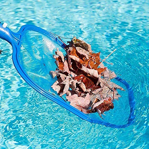 """CICL Pool Skimmers with Pole Mesh Nets with 47"""" 5-Section Aluminum Skimmer for Cleaning Swimming Pool, Garden Pond, Hot Tub and Spa"""