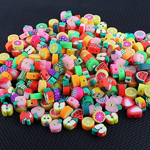 DKANG Kit para Hacer Pulseras, Abalorios para Hacer Collares, 200pcs Diferentes Animales Polymer Clay Beads, para Bricolaje Pendiente De Pulsera De Collar Hacer Joyas