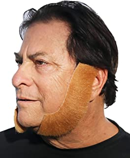 City Costume Wigs Fake Sideburns, Realistic Looking Mutton Chops with Adhesive