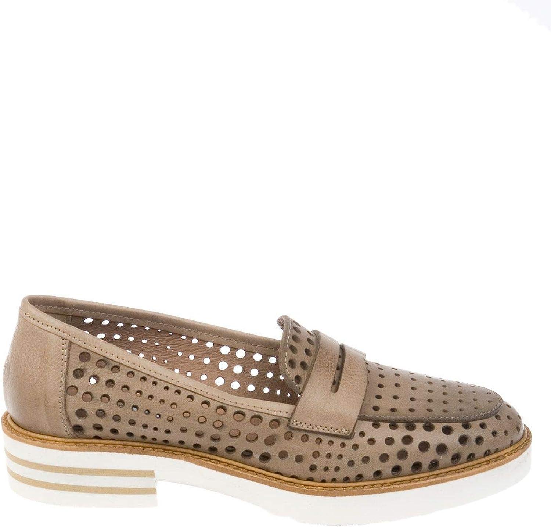 womenPIU' Women's 52876RACHELE Beige Leather Loafers